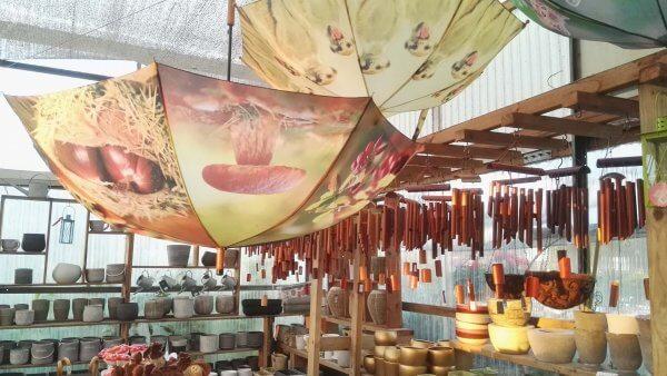 מטריות מעוצבות ומוביילים פעמוני רוח מעץ