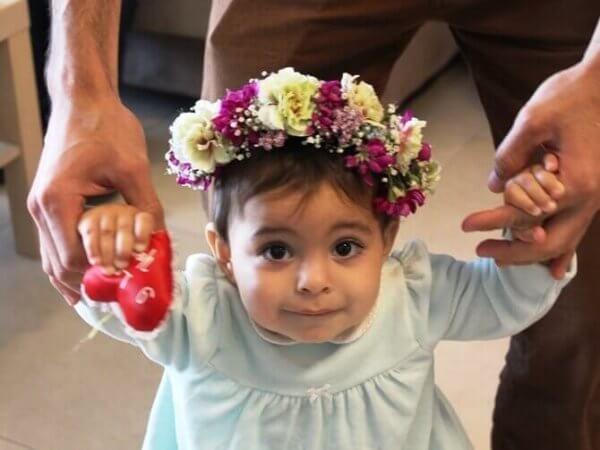 זר לראש לתינוקת