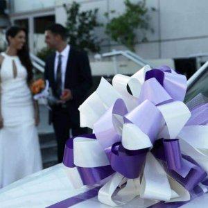 קישוטים לרכב חתונה סגול