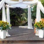 סידור פרחים לארועים
